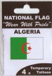 Algeria Country Flag Tattoos.